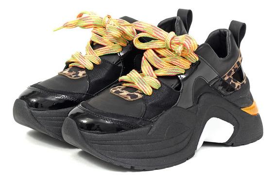 Zapatillas Mujer Code Simil Cuero Why