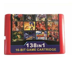 138 En 1 Cartucho De Juegos Multicart Para Consolas Megadriv