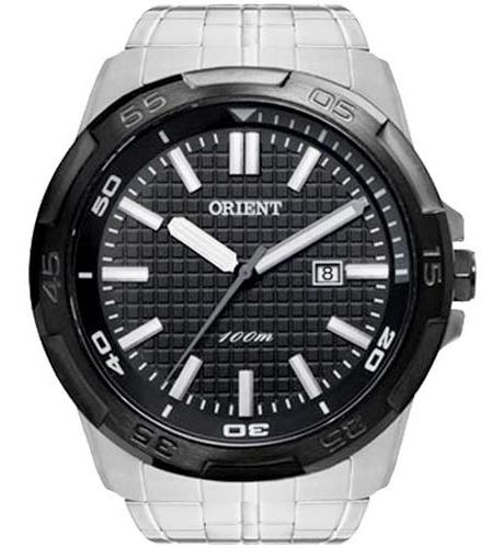Relógio Orient Masculino Prata Fundo Preto Mbss1236 P1sx