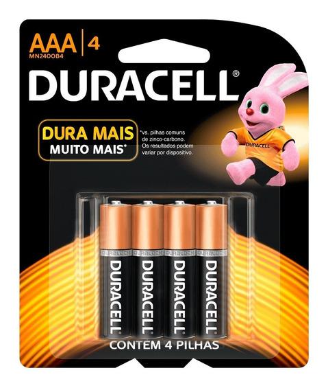 Pilha Duracell Mn 2400 B4 Aaa C/4