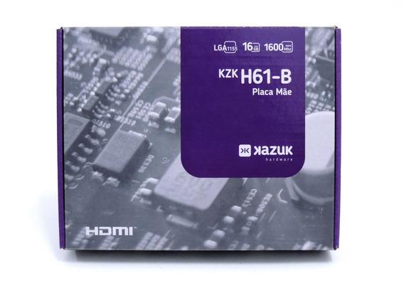 Placa Mãe Intel H61 P/ I7 I5 I3, Lga1155 (zerada)