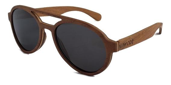 Gafas Anteojos Sol 100% Madera Woot8 - Fly Walnut