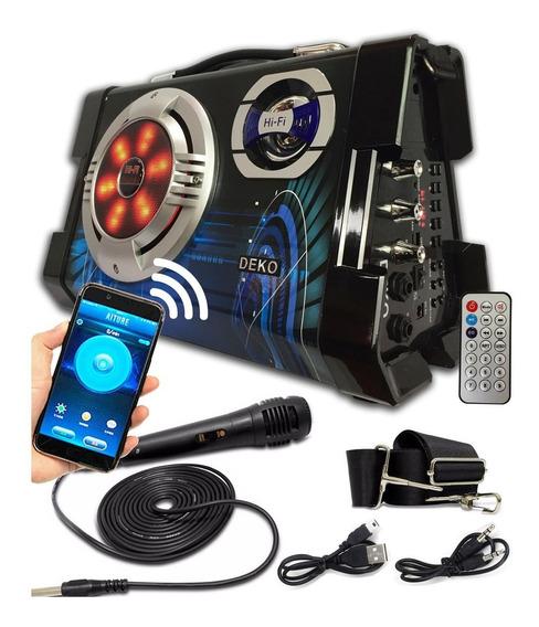 Caixa De Som 6 Em 1 Amplificada Com Bluetooth Usb Mp3 Sd Mic