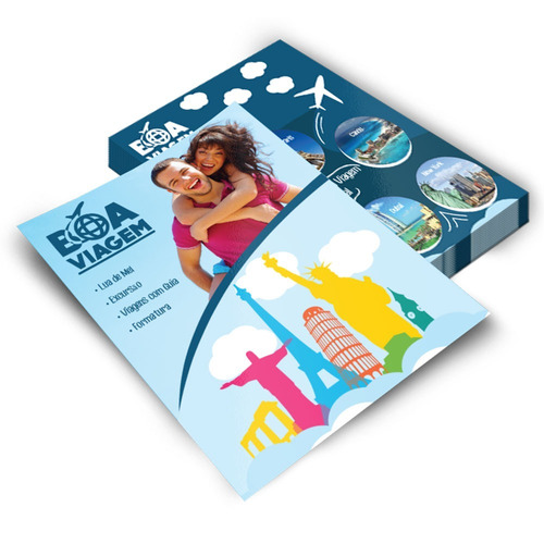 5000 Panfletos 15x20  Colorido Frente E Verso Promoção
