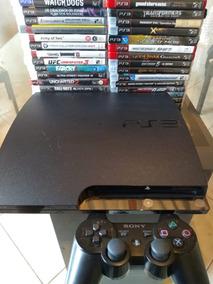 Ps3 Playstation 3 Slim , Controle + 3 Jogos Gratis