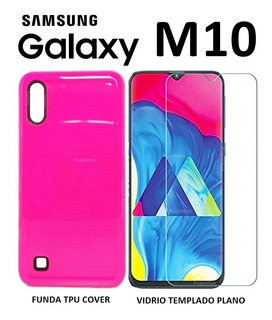 Funda Tpu Cover + Vidrio Templado Samsung Galaxy M10 Rosario