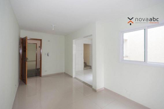 Cobertura Com 2 Dormitórios À Venda, 50 M² Por R$ 355.000 - Vila Camilópolis - Santo André/sp - Co0357