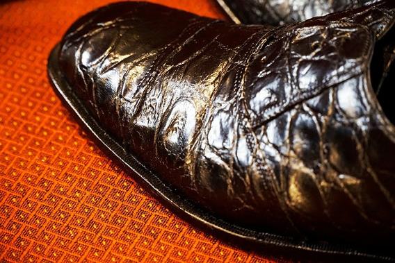 Zapato Exotico Hombre Talle 45 Reptil Yacare Cocodrilo