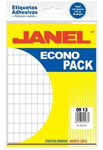 Etiquetas Blancas Janel No.1 De 9x13 Mm 1 Paquete