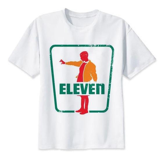 Playera Camiseta Stranger Things Eleven Seven Oxxo Logo