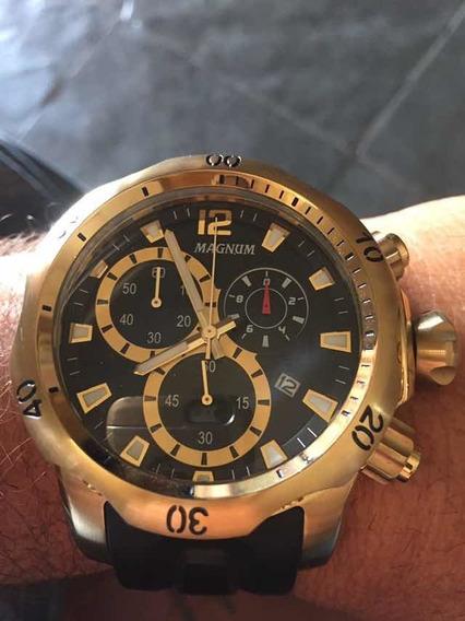 Relógio Magnum Oversive Estado De Zero Muito Lindo.