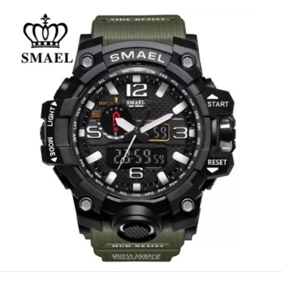 Relógio Masculino Militar Tático Original Shock Smael Verde