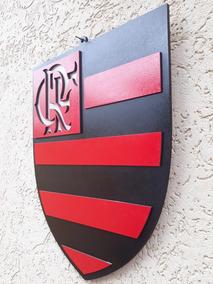 Simbolo Do Flamengo Em Alto Relevo Mdf