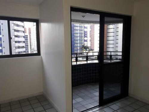 Imagem 1 de 25 de Belo Apartamento No Edf. Renata Dias, Com 110m², 3 Quartos (1 Com Suíte), Varanda, Sala Para 2 Ambientes Distribuídos, 2 Vagas. Lazer. Boa Viagem, Recife/pe. - Pe - Ap0407_tmi