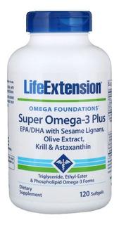 Super Omega 3 Plus Krill Astaxantina 120 Caps Life Extension