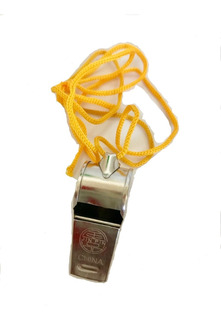 Silbato Metálico 4.5cm Extra Fuerte Con Cordón