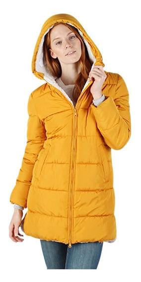 Chamarra Mujer Greenlander Pol6711 Invierno Gorro