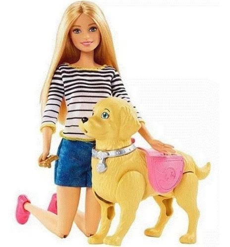 Barbie Paseo De Perrito Mattel Dwj68 Juguete Niñas Mascotas