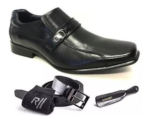 Kit 4 Em 1 - Sapato Social Couro Rafarillo 45002