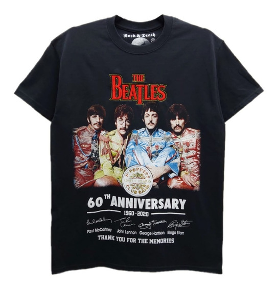 Playera Rock & Death The Beatles Peppers Club Band 60 Annive
