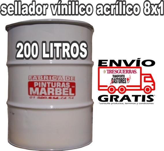 Sellador Vinílico 8x1 Reforzado Tambor 200 Litros