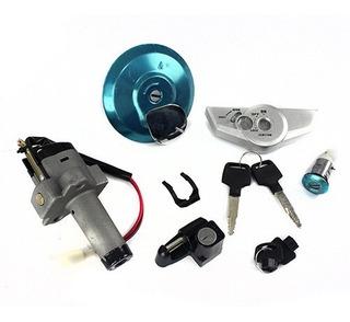 Kit Chave Ignição Contato Tampa Tanque Titan 150 2006 2007 2008 Com Sensor (alta Qualidade)