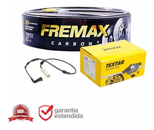Imagem 1 de 6 de Pastilha De Freio Traseira + Disco + 1 Sensor Bmw 320 2014