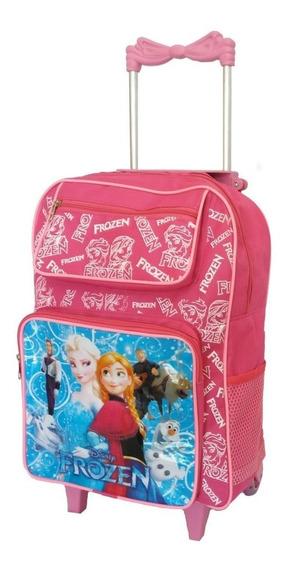 Bolsa Frozen Escolar Para Meninas Feminina Rosa Carrinho