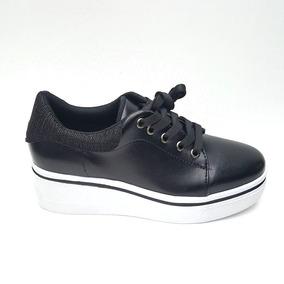Zapato Plataforma Tacón Corrido Casual Envío Gratis 55134