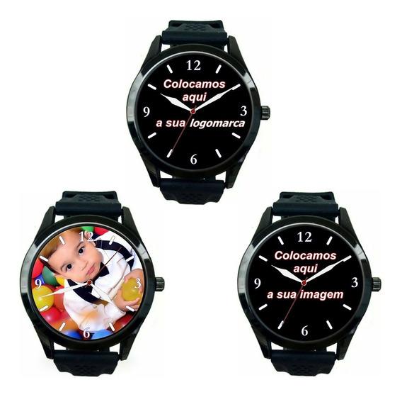 Kit 3 Relógios Pulso Personalizados Foto Imagem Logo Barato