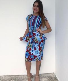 34c7711ce Saias Peplum Femininas Azul ao melhor preço no Mercado Livre Brasil
