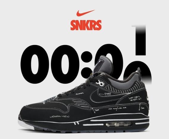 Nike Air Max 1 Tinker Sketch Negro Original En Cuotas Stock