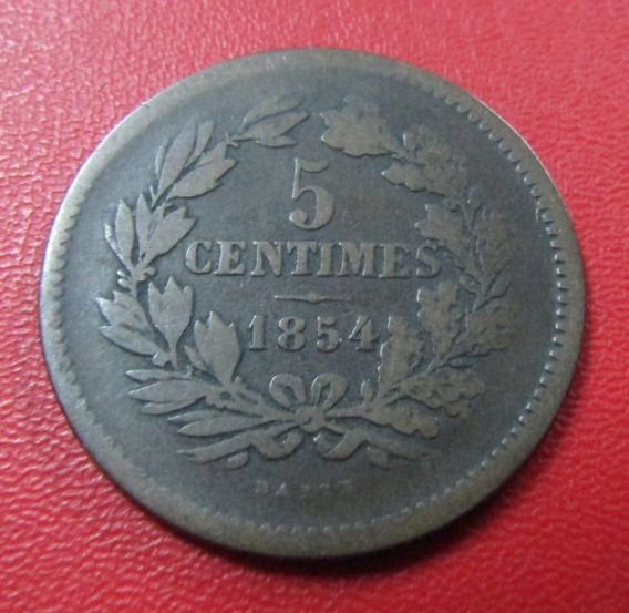 Luxemburgo Moneda 5 Centimos Vf - 1854