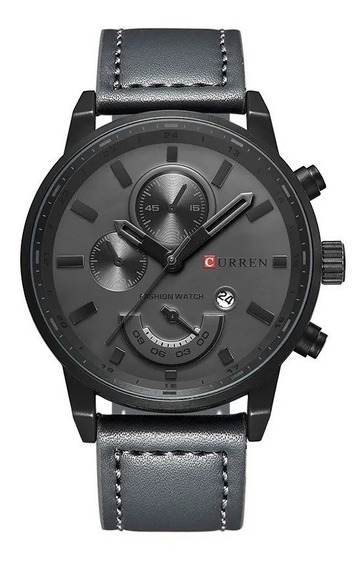 Relógio Masculino Original Curren Pulseira De Couro
