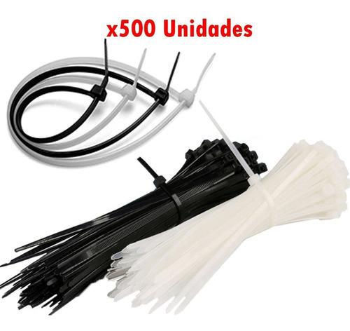 Precintos 4,8 X 180mm Blanco Y Negro X 500 Uni. G P
