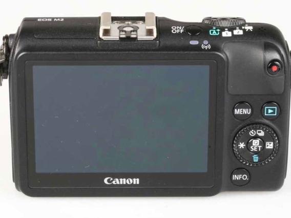 Câmera Mirrorless Eos M2 Wifi Perfeita E Pouco Usada