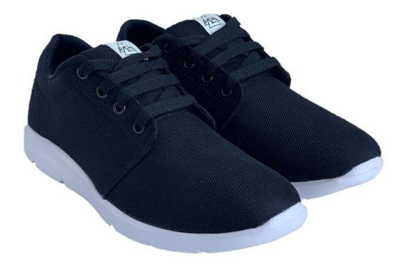 Zapatillas Marca Rcn 110 Ultralivianas Negra