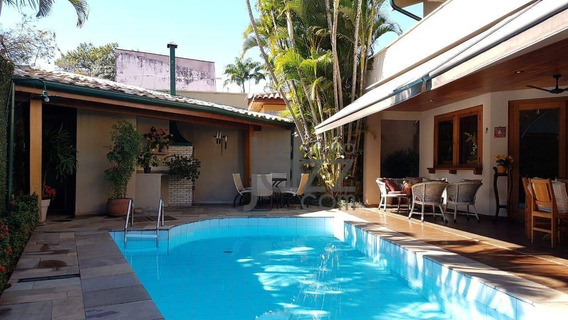 Belíssima Casa Com 4 Dormitórios À Venda, 376 M² Por R$ 1.950.000 - Nova Campinas - Campinas/sp - Ca6780