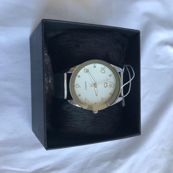 Relógio Feminino Quartz Prata