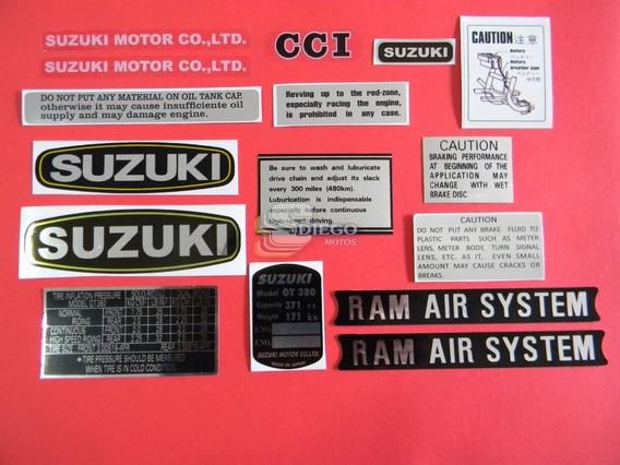 Kit De Adesivos Da Época (réplica) Suzuki Gt-380 72 A 77