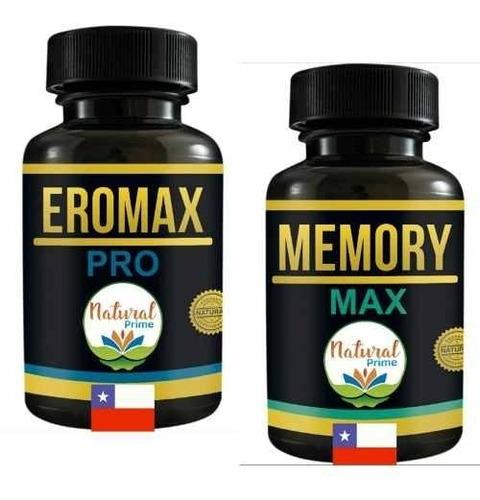 Memory Max + Eromax Pro Pastillas Concentracion Oferta Pack