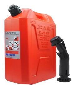 Galão De Combustível 10 Litros De Polietileno Carro Gasolina