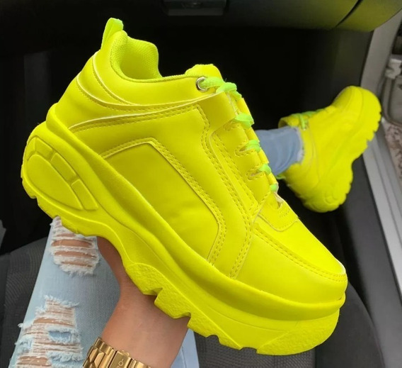 Tênis Sneaker Bf Flex Feminino Plataforma De 5cm Altura