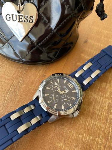 Relógio Guess Borracha Azul 92560g0gsnu2