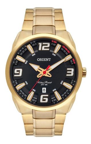 Relógio Orient Masculino Mgss1178 P2kx Dourado Analogico
