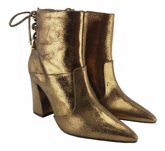 Bota Dourado Velho Bronze Cano Curto Only 100338 | Korus