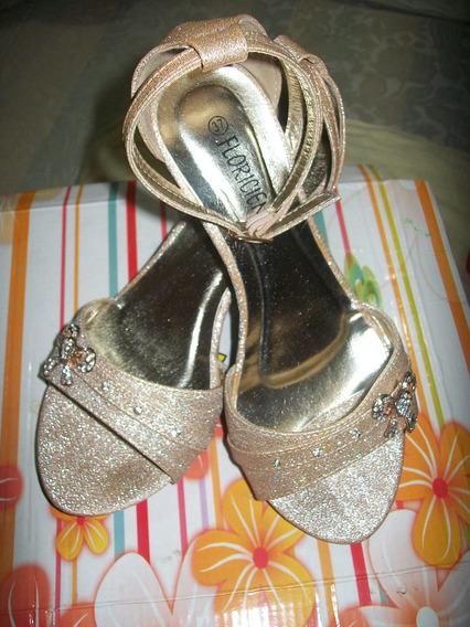 Zapatos Floricienta Dorado ,(oro) Nro 37