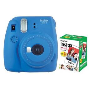 Câmera Instantânea Fujifilm Instax Mini9 Azul Cobalto+pack30