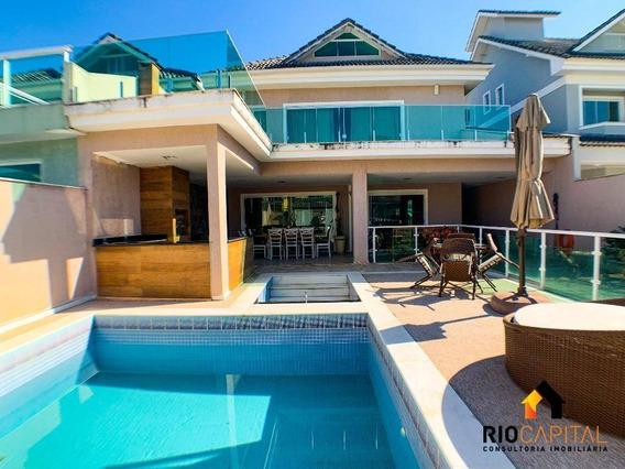 Casa Com 3 Dormitórios À Venda, 290 M² Por R$ 1.490.000,00 - Recreio Dos Bandeirantes - Rio De Janeiro/rj - Ca0156
