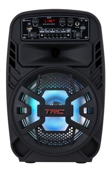 Caixa De Som Amplificada Trc 510 Bluetooth Bat Até 1h 100w